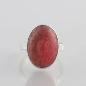 Shop Rhodonite Rings! Rhodonite Ring, 925 Sterling Silver, Pink Stone Ring, Boho Ring, Gemstone Ring, Promise Ring, Friendship Ring, Valentines, Christmas Gift | Natural genuine Rhodonite rings, simple unique handcrafted gemstone rings. #rings #jewelry #shopping #gift #handmade #fashion #style #affiliate #ad