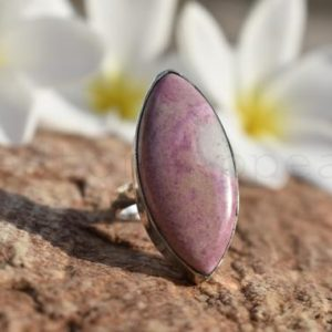 Shop Rhodonite Rings! Rhodonite Ring, Marquise Ring, Rhodonite Jewelry, Sterling Silver, Bezel Ring, Boho Ring, Statement Ring, Casual, Womens Ring, Christmas | Natural genuine Rhodonite rings, simple unique handcrafted gemstone rings. #rings #jewelry #shopping #gift #handmade #fashion #style #affiliate #ad