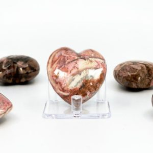 Shop Rhodonite Shapes! Rhodonite Puffy Heart – Crystal Healing, Polished Crystal, Stone of the Heart, Emotional Healing, Pink Crystal   Natural genuine stones & crystals in various shapes & sizes. Buy raw cut, tumbled, or polished gemstones for making jewelry or crystal healing energy vibration raising reiki stones. #crystals #gemstones #crystalhealing #crystalsandgemstones #energyhealing #affiliate #ad