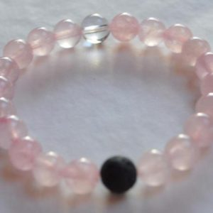 pink rose quartz lokai style bracelet rose quartz beaded gemstone bracelet charity for breast cancer memorial gift mom gifts for wife sister | Natural genuine Array bracelets. Buy crystal jewelry, handmade handcrafted artisan jewelry for women.  Unique handmade gift ideas. #jewelry #beadedbracelets #beadedjewelry #gift #shopping #handmadejewelry #fashion #style #product #bracelets #affiliate #ad