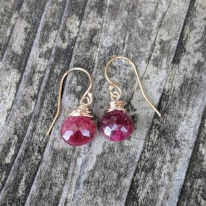 Shop Ruby Earrings! Dainty Ruby earrings. Gold ruby earrings.  Silver ruby earrings. Rose gold ruby earrings | Natural genuine Ruby earrings. Buy crystal jewelry, handmade handcrafted artisan jewelry for women.  Unique handmade gift ideas. #jewelry #beadedearrings #beadedjewelry #gift #shopping #handmadejewelry #fashion #style #product #earrings #affiliate #ad