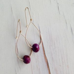 Shop Ruby Earrings! Ruby Earrings Ruby Hoops Ruby Faceted Slice Earring Gemstone Jewelry | Natural genuine Ruby earrings. Buy crystal jewelry, handmade handcrafted artisan jewelry for women.  Unique handmade gift ideas. #jewelry #beadedearrings #beadedjewelry #gift #shopping #handmadejewelry #fashion #style #product #earrings #affiliate #ad