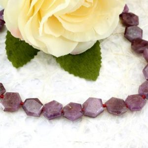 Shop Ruby Necklaces! Ruby Corundum faceted hexagon beads (ETB00202) Unique jewelry/Vintage jewelry/Gemstone necklace | Natural genuine Ruby necklaces. Buy crystal jewelry, handmade handcrafted artisan jewelry for women.  Unique handmade gift ideas. #jewelry #beadednecklaces #beadedjewelry #gift #shopping #handmadejewelry #fashion #style #product #necklaces #affiliate #ad