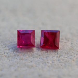 2pcs ruby loose stone Square cut gems Burma ruby gemstone 2mm Calibrated gemstone lot for jewelry making | Natural genuine stones & crystals in various shapes & sizes. Buy raw cut, tumbled, or polished gemstones for making jewelry or crystal healing energy vibration raising reiki stones. #crystals #gemstones #crystalhealing #crystalsandgemstones #energyhealing #affiliate #ad