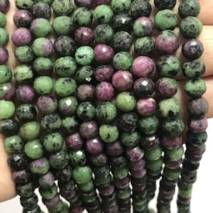 Shop Ruby Zoisite Faceted Beads! 6 – 6.5 mm Ruby Zoisite Faceted Round Gemstone Beads Strand Sale /  Ruby Ziosite Beads / Wholesale Beads / Faceted ruby Zoisite Beads Strand | Natural genuine faceted Ruby Zoisite beads for beading and jewelry making.  #jewelry #beads #beadedjewelry #diyjewelry #jewelrymaking #beadstore #beading #affiliate #ad