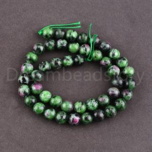 Shop Ruby Zoisite Round Beads! Natural Ruby Zoisite Gemstone Beads Green Healing Semi Precious Stone Round Spacer Beads Online Bulk Wholesale | Natural genuine round Ruby Zoisite beads for beading and jewelry making.  #jewelry #beads #beadedjewelry #diyjewelry #jewelrymaking #beadstore #beading #affiliate #ad