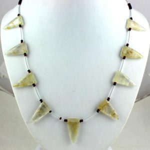 "Shop Rutilated Quartz Faceted Beads! 1 Strand Natural Golden Rutile Quartz Triangle Faceted Approx 14×26.5-14×27.5mm Beads 12"" Long Rutilated Beads Golden Rutile,Best Quality 