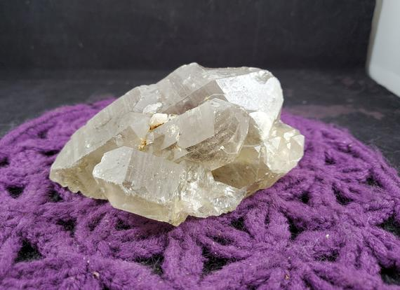 Large Rutilated Quartz Crystal Cluster Natural Terminated Rare Unique Display Gold Golden Rutile