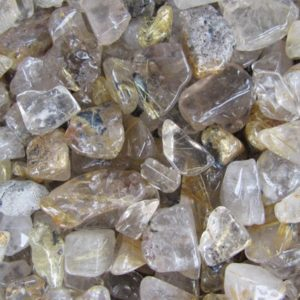 Mini Rutilated Quartz Chip Tumbled Stone Set of 5 Plus T5 | Natural genuine stones & crystals in various shapes & sizes. Buy raw cut, tumbled, or polished gemstones for making jewelry or crystal healing energy vibration raising reiki stones. #crystals #gemstones #crystalhealing #crystalsandgemstones #energyhealing #affiliate #ad