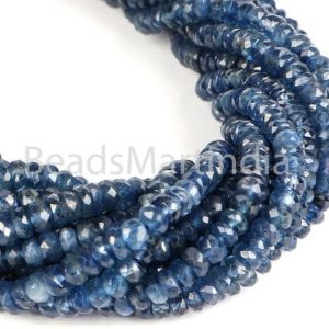 Shop Sapphire Faceted Beads! Blue Sapphire Rondelle Faceted Beads, Blue Sapphire Beads, Blue Sapphire Faceted Beads, Sapphire Beads, Sapphire Rondelle Beads, Sapphire | Natural genuine faceted Sapphire beads for beading and jewelry making.  #jewelry #beads #beadedjewelry #diyjewelry #jewelrymaking #beadstore #beading #affiliate #ad