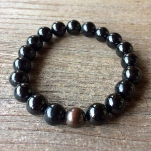 Shop Shungite Beads! Boyfriend Beads- Shungite And Copper Grounding Beads Ws2814 | Natural genuine other-shape Shungite beads for beading and jewelry making.  #jewelry #beads #beadedjewelry #diyjewelry #jewelrymaking #beadstore #beading #affiliate #ad