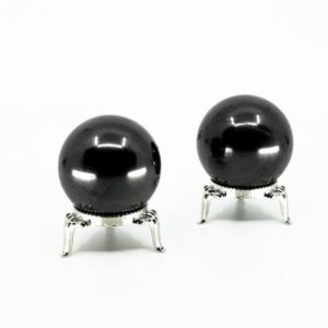Shop Shungite Shapes! Polished Shungite Sphere – 40mm, Crystal Healing, Altar Decor, Carbon, Building Block of Life, EMF Protection, Stone of Life   Natural genuine stones & crystals in various shapes & sizes. Buy raw cut, tumbled, or polished gemstones for making jewelry or crystal healing energy vibration raising reiki stones. #crystals #gemstones #crystalhealing #crystalsandgemstones #energyhealing #affiliate #ad