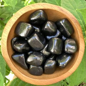 Shop Tumbled Shungite Crystals & Pocket Stones! RARE Shungite Tumbled Stone – Shungite Stone – Shungite Healing – Root Chakra – Healing Crystals – Healing Stone – Home Decor – Sacred Space | Natural genuine stones & crystals in various shapes & sizes. Buy raw cut, tumbled, or polished gemstones for making jewelry or crystal healing energy vibration raising reiki stones. #crystals #gemstones #crystalhealing #crystalsandgemstones #energyhealing #affiliate #ad