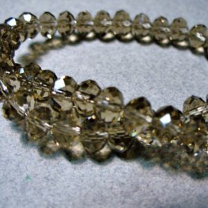 Shop Smoky Quartz Faceted Beads! Crystal Beads Faceted Smoky Quartz  Rondelles 6x4mm   Natural genuine faceted Smoky Quartz beads for beading and jewelry making.  #jewelry #beads #beadedjewelry #diyjewelry #jewelrymaking #beadstore #beading #affiliate #ad