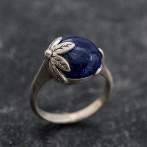 Shop Sodalite Jewelry! Blue Leaf Ring, Sodalite Ring, Natural Sodalite, Blue Ring, Vintage Blue Ring, Blue Sodalite Ring, Leaf Ring, Solid Silver Ring, Sodalite | Natural genuine Sodalite jewelry. Buy crystal jewelry, handmade handcrafted artisan jewelry for women.  Unique handmade gift ideas. #jewelry #beadedjewelry #beadedjewelry #gift #shopping #handmadejewelry #fashion #style #product #jewelry #affiliate #ad