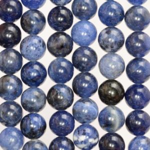 10mm Blueberry Sodalite Gemstone Grade AA Blue Round Loose Beads 15.5 inch Full Strand (90186308-729) | Natural genuine beads Array beads for beading and jewelry making.  #jewelry #beads #beadedjewelry #diyjewelry #jewelrymaking #beadstore #beading #affiliate #ad