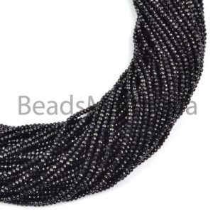 Shop Spinel Beads! Natural Black Spinel Faceted Rondelle Beads, Natural Spinel Beads, Black Spinel Faceted Beads, Black Spinel Rondelle Beads, Black Spinel | Natural genuine beads Spinel beads for beading and jewelry making.  #jewelry #beads #beadedjewelry #diyjewelry #jewelrymaking #beadstore #beading #affiliate #ad
