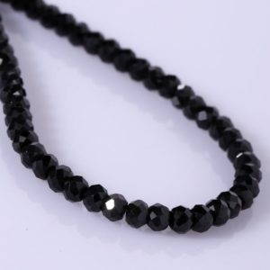 Shop Spinel Necklaces! Black Spinel Necklace In Sterling Silver Black Spinel Jewelry Minimalist Beaded Layering Necklace Handmade Christmas Gift Birthday Gift | Natural genuine Spinel necklaces. Buy crystal jewelry, handmade handcrafted artisan jewelry for women.  Unique handmade gift ideas. #jewelry #beadednecklaces #beadedjewelry #gift #shopping #handmadejewelry #fashion #style #product #necklaces #affiliate #ad