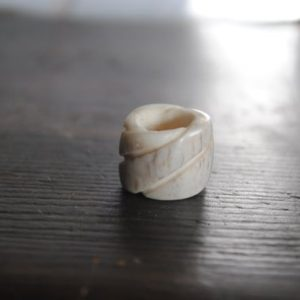 Shop Dread Beads! Spiral Antler Dread Bead | Natural genuine beads Gemstone beads for beading and jewelry making.  #jewelry #beads #beadedjewelry #diyjewelry #jewelrymaking #beadstore #beading #affiliate #ad