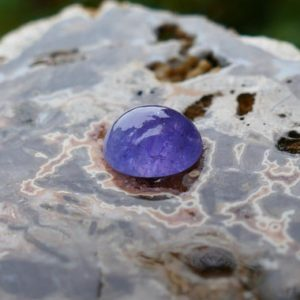 Tanzanite Cabochon 5.2 ct Oval Tanzanite cab | Natural genuine stones & crystals in various shapes & sizes. Buy raw cut, tumbled, or polished gemstones for making jewelry or crystal healing energy vibration raising reiki stones. #crystals #gemstones #crystalhealing #crystalsandgemstones #energyhealing #affiliate #ad
