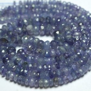 Shop Tanzanite Faceted Beads! 14 Inches Strand Natural Tanzanite Rondelles 3mm to 6mm Faceted Rondelle Gemstone Beads AA Tanzanite Beads Semi Precious Stone No4045 | Natural genuine faceted Tanzanite beads for beading and jewelry making.  #jewelry #beads #beadedjewelry #diyjewelry #jewelrymaking #beadstore #beading #affiliate #ad