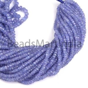 Shop Tanzanite Faceted Beads! Tanzanite Faceted Rondelle (3-5mm) Shape Beads, Tanzanite Faceted Indian Cut Beads, Tanzanite Rondelle Beads, Tanzanite Faceted Beads | Natural genuine faceted Tanzanite beads for beading and jewelry making.  #jewelry #beads #beadedjewelry #diyjewelry #jewelrymaking #beadstore #beading #affiliate #ad