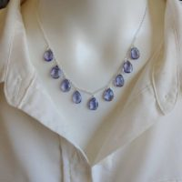Elegant Tanzanite Necklace. Your Choice Of Gold Filled, Sterling Silver, Or Rose Gold | Natural genuine Gemstone jewelry. Buy crystal jewelry, handmade handcrafted artisan jewelry for women.  Unique handmade gift ideas. #jewelry #beadedjewelry #beadedjewelry #gift #shopping #handmadejewelry #fashion #style #product #jewelry #affiliate #ad