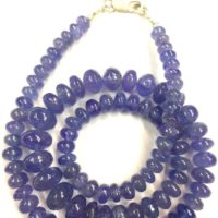 "Natural Tanzanite Smooth Beads Smooth Tanzanite Rondelle Gemstone Beads Wholesale Tanzanite Necklace Jewelry Making Beads 18"" Strand 