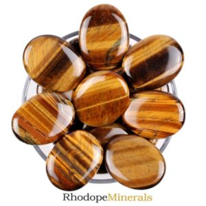 Shop Tumbled Tiger Eye Crystals & Pocket Stones! One Tiger Eye Palm Stone, Tiger Eye Palm Stones, Tiger Eye Smooth Stones, Palm Smooth Tiger Eye Tumbled Stones, Tiger Eye Palm Smooth Stones | Natural genuine stones & crystals in various shapes & sizes. Buy raw cut, tumbled, or polished gemstones for making jewelry or crystal healing energy vibration raising reiki stones. #crystals #gemstones #crystalhealing #crystalsandgemstones #energyhealing #affiliate #ad