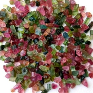 Shop Tourmaline Chip & Nugget Beads! 3-5mm Multi Tourmaline Raw Stones, Natural Loose Multi Tourmaline Rough Sticks, Tourmaline For Jewelry (10Cts To 100Cts Options) – DVP46 | Natural genuine chip Tourmaline beads for beading and jewelry making.  #jewelry #beads #beadedjewelry #diyjewelry #jewelrymaking #beadstore #beading #affiliate #ad