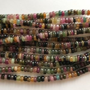 Shop Tourmaline Rondelle Beads! natural tourmaline  5x2mm rondelle gemstone Beads–7.5 inch ,1 strand/3 strands | Natural genuine rondelle Tourmaline beads for beading and jewelry making.  #jewelry #beads #beadedjewelry #diyjewelry #jewelrymaking #beadstore #beading #affiliate #ad