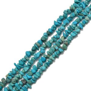 Shop Turquoise Chip & Nugget Beads! Natural Genuine Turquoise Matte Pebble Chips Beads Size 7-8mm 15.5'' per Strand | Natural genuine chip Turquoise beads for beading and jewelry making.  #jewelry #beads #beadedjewelry #diyjewelry #jewelrymaking #beadstore #beading #affiliate #ad