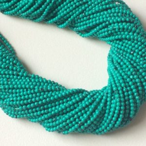 Shop Turquoise Rondelle Beads! 2mm Chinese Turquoise Plain Rondelle Beads, 13 Inch Turquoise Greenish Blue Rondelles, Plain Turquoise For Jewelry (5ST To 10 ST Options) | Natural genuine rondelle Turquoise beads for beading and jewelry making.  #jewelry #beads #beadedjewelry #diyjewelry #jewelrymaking #beadstore #beading #affiliate #ad