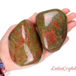 Huge Unakite Tumbled Stone, Huge Unakite Tumbled Stones, Giant Unakite Tumbled Stone, Giant Unakite Tumbled Stones, Huge Giant Unakite Stone | Natural genuine stones & crystals in various shapes & sizes. Buy raw cut, tumbled, or polished gemstones for making jewelry or crystal healing energy vibration raising reiki stones. #crystals #gemstones #crystalhealing #crystalsandgemstones #energyhealing #affiliate #ad