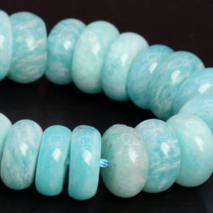 "Shop Amazonite Rondelle Beads! 11x4MM Genuine Natural Blue Green Amazonite Beads Grade AA Gemstone Half Strand Rondelle Loose Beads 7.5"" Bulk Lot Options (107900h-2587) 