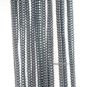 Shop Hematite Rondelle Beads! 3x2mm Black Hematite Gemstone Black Rondelle Heishi 3x2mm Loose Beads 16 inch Full Strand (90188981-149a) | Natural genuine rondelle Hematite beads for beading and jewelry making.  #jewelry #beads #beadedjewelry #diyjewelry #jewelrymaking #beadstore #beading #affiliate #ad