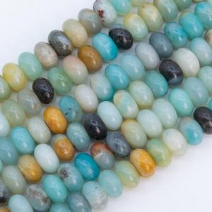 Shop Amazonite Rondelle Beads! Genuine Natural Multicolor Amazonite Loose Beads Grade A Rondelle Shape 10x6mm | Natural genuine rondelle Amazonite beads for beading and jewelry making.  #jewelry #beads #beadedjewelry #diyjewelry #jewelrymaking #beadstore #beading #affiliate #ad
