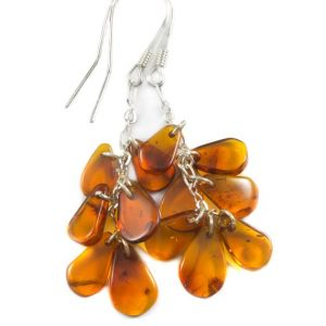 Shop Amber Earrings! Amber Earrings Sterling Silver Honey Smooth Cluster Chandelier Style Teardrop Natural Briolettes Dangles Clusters Lightweight Rich Yellow | Natural genuine Amber earrings. Buy crystal jewelry, handmade handcrafted artisan jewelry for women.  Unique handmade gift ideas. #jewelry #beadedearrings #beadedjewelry #gift #shopping #handmadejewelry #fashion #style #product #earrings #affiliate #ad