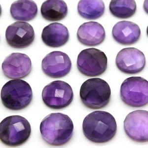 Shop Amethyst Stones & Crystals! Round AA Amethyst cabochons,faceted cabochons,gemstone cabochons,checkercut stones,rose cut gemstones,semiprecious – 1 Stone | Natural genuine stones & crystals in various shapes & sizes. Buy raw cut, tumbled, or polished gemstones for making jewelry or crystal healing energy vibration raising reiki stones. #crystals #gemstones #crystalhealing #crystalsandgemstones #energyhealing #affiliate #ad