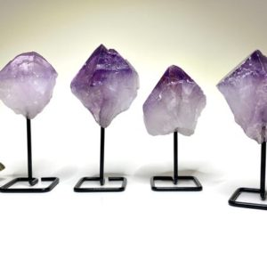 Shop Amethyst Stones & Crystals! Amethyst Point on Stand | Natural genuine stones & crystals in various shapes & sizes. Buy raw cut, tumbled, or polished gemstones for making jewelry or crystal healing energy vibration raising reiki stones. #crystals #gemstones #crystalhealing #crystalsandgemstones #energyhealing #affiliate #ad