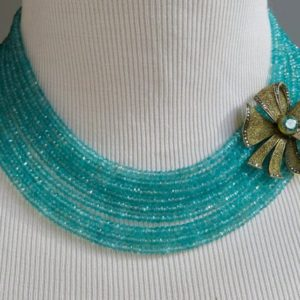 Shop Apatite Necklaces! Theodor Fahrner Jewelry, Art Deco Jewelry, Apatite Gemstone Necklace | Natural genuine Apatite necklaces. Buy crystal jewelry, handmade handcrafted artisan jewelry for women.  Unique handmade gift ideas. #jewelry #beadednecklaces #beadedjewelry #gift #shopping #handmadejewelry #fashion #style #product #necklaces #affiliate #ad