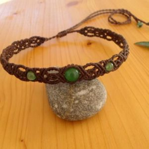 Shop Aventurine Necklaces! Macrame Choker, Aventurine Necklace, Macrame Jewelry, Aventurine Choker, Macrame Necklace, Gemstone Choker, Macrame Headband, Hippie Jewelry | Natural genuine Aventurine necklaces. Buy crystal jewelry, handmade handcrafted artisan jewelry for women.  Unique handmade gift ideas. #jewelry #beadednecklaces #beadedjewelry #gift #shopping #handmadejewelry #fashion #style #product #necklaces #affiliate #ad