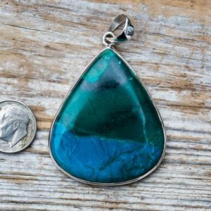 Shop Azurite Pendants! Azurite Malachite Pendant – Azurite Malachite Necklace – Azurite Malachite Gemstone Pendant – Azurite Pendant – Azurite Jewelry – Azurite | Natural genuine Azurite pendants. Buy crystal jewelry, handmade handcrafted artisan jewelry for women.  Unique handmade gift ideas. #jewelry #beadedpendants #beadedjewelry #gift #shopping #handmadejewelry #fashion #style #product #pendants #affiliate #ad
