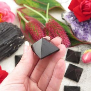 Black Tourmaline Pyramids – Crystal Pyramids | Natural genuine stones & crystals in various shapes & sizes. Buy raw cut, tumbled, or polished gemstones for making jewelry or crystal healing energy vibration raising reiki stones. #crystals #gemstones #crystalhealing #crystalsandgemstones #energyhealing #affiliate #ad