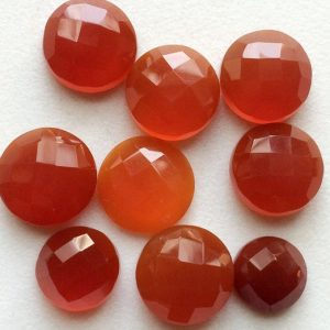 Shop Carnelian Cabochons! 7-14mm Carnelian Orange Chalcedony Rose Cut Cabochon, 5 Pcs Orange Chalcedony Flat Back Round Cabochon, Chalcedony For Jewelry – GODP1023 | Natural genuine stones & crystals in various shapes & sizes. Buy raw cut, tumbled, or polished gemstones for making jewelry or crystal healing energy vibration raising reiki stones. #crystals #gemstones #crystalhealing #crystalsandgemstones #energyhealing #affiliate #ad