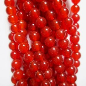 "Shop Carnelian Round Beads! Carnelian Beads – Round 4 mm Gemstone Beads – Full Strand 16"", 92 beads, AA Quality 