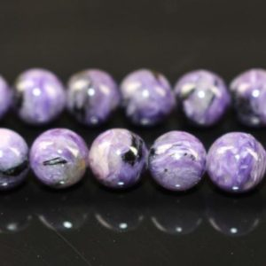 Shop Charoite Beads! Natural AAA Genuine Charoite Round Beads,Sugilite Beads,6mm 8mm 10mm 12mm Charoite Beads Wholesale Supply,one strand 15"