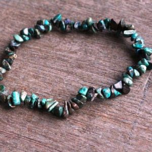 Chrysocolla Stretchy String Chip Bracelet G249 | Natural genuine Chrysocolla bracelets. Buy crystal jewelry, handmade handcrafted artisan jewelry for women.  Unique handmade gift ideas. #jewelry #beadedbracelets #beadedjewelry #gift #shopping #handmadejewelry #fashion #style #product #bracelets #affiliate #ad