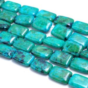 Shop Chrysocolla Bead Shapes! 18x13MM  Chrysocolla Quantum Quattro Gemstone Rectangle Loose Beads 7.5 inch Half Strand (90183023-A141) | Natural genuine other-shape Chrysocolla beads for beading and jewelry making.  #jewelry #beads #beadedjewelry #diyjewelry #jewelrymaking #beadstore #beading #affiliate #ad