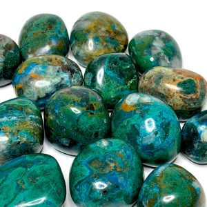 Shop Tumbled Chrysocolla Crystals & Pocket Stones! Chrysocolla Tumbled Stone | Natural genuine stones & crystals in various shapes & sizes. Buy raw cut, tumbled, or polished gemstones for making jewelry or crystal healing energy vibration raising reiki stones. #crystals #gemstones #crystalhealing #crystalsandgemstones #energyhealing #affiliate #ad